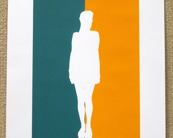 60's Girl Silhouette - limited edition screenprint