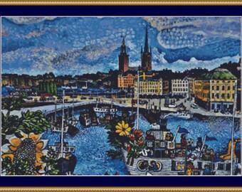 Stockholm Cross Stitch Pattern