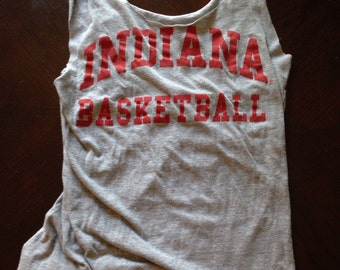 Indiana Basketball Upcycled Tshirt Market Bag