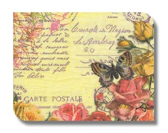 Vintage-style decoupage paper napkin x 1. French floral. No 1266