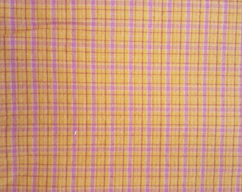 Pink and Orange Plaid Cotton
