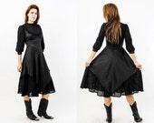 Vintage Black Goth Dress