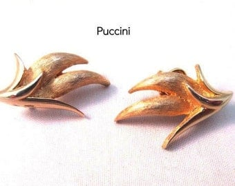 Puccini EArrings -  Brushed Gold- Clip on earrings
