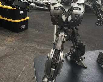Hand Made BUMBLEBEE  TRANSFORMERS 1.5 FEET  Recycled Scrap Metal