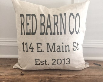 Personalized Name and Address pillow