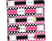 Diy Pampered Posh Water Bottle Wraps - Perfectly Posh Inspired - Posh Night Out - Spa Party - Perfectly Posh Printable - Instant Download!