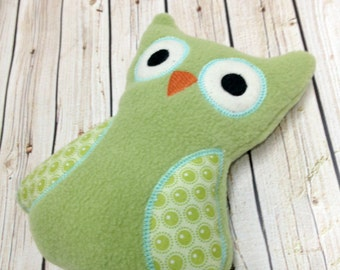 Owl Stuffed Toy - Owl Plush - Owl Toy - Baby Hoot Owl - Green Owl