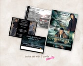 Supernatural printable Wedding Invite set TEMPLATE (Sam and dean 5X7 with 3 cards) Instant Download Just add your info and print!