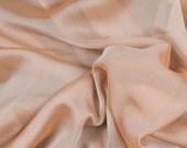 Silk iridescent fabric , nude/ beige color