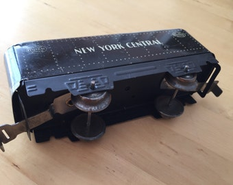 Vintage 1940s Marx tin coal car train