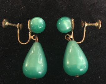 Green Moonstone Earings