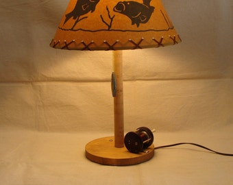 Handcrafted Fishing Table Lamp