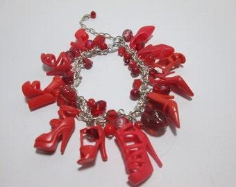 RED Barbie Shoe  Bracelet/ item 4-108