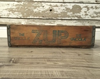 Vintage 7up Seven Up Wood Soda Pop Crate St. Louis Mo