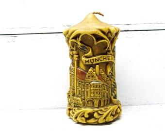 Vintage Bavarian German Candle Art Muchen Munich