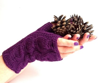 Knit Fingerless Gloves. Knitted Gloves. Short Gloves. Knitted Wrist Warmers. Knit Arm Warmers. Women Gloves. Pick Your Color.