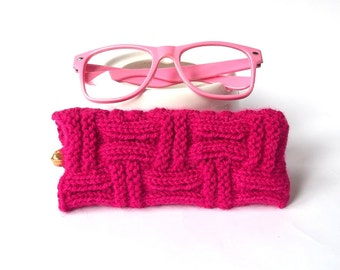 Fuchsia Glasses Case. Eyeglasses Case. Sunglasses Case. Eyeglasses Holder. Sunglasses Holder. Spectacle Case.