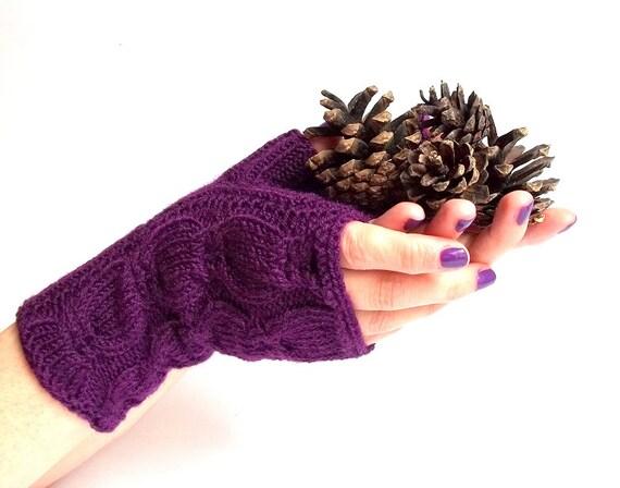 Knit Fingerless Gloves. Knitted Gloves. Short Gloves. Knitted