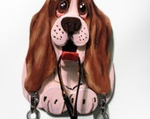 Basset Hound Wooden Leash Holder, key holder, Pet Gift, Dog Leash Holder, Dog Leash Hook,  Dog Leash Hanger