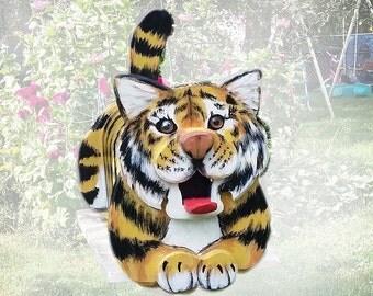 Wildlife Animal Tiger Mailbox, animal lover gift, cat mailbox, hand painted mailbox, animal gift, yard decoration, specialty mailbox