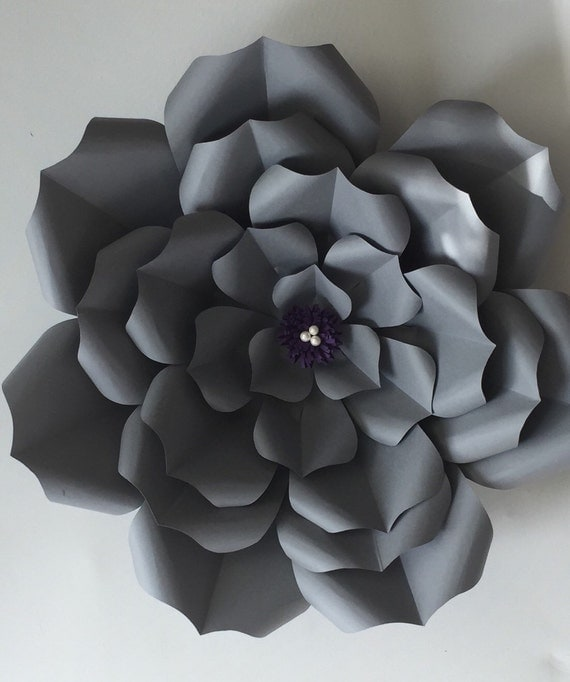 Paper flower template succulents dahlia for Free printable paper flower templates