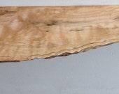 No.135 live edge maple shelf
