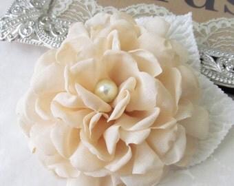 Chiffon Flower Hair / Hair Clip /  Bridal Hair Clip /