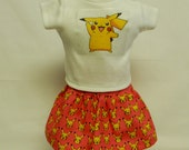 POKEMON Pikachu (Style B) Theme Outfit For 18 Inch Doll Like The American Girl