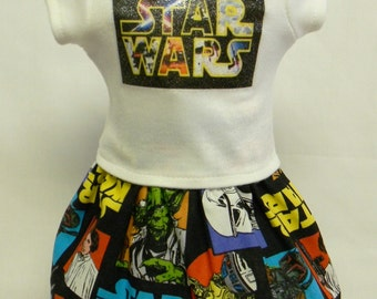 Star Wars Theme Outfit (2) For 18 Inch Doll Like The American Girl