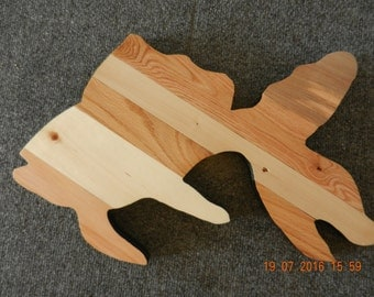 Hand Crafted fish (goldfish design)  from Pallet Wood