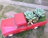Vintage Tonka Pickup Truck Succulent Planter
