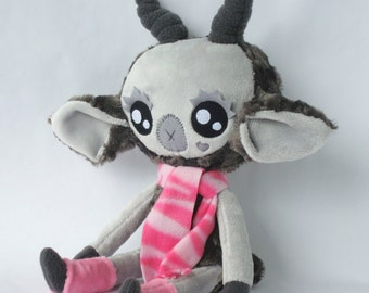 Chantilly the Little Gray Goat Large Plush Doll