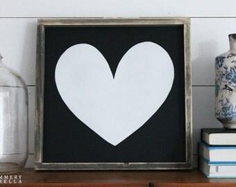 Heart Wood Sign, Housewarming Gift, Contemporary, Country Decor, Farmhouse Decor