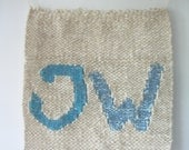 Wooven Tapestry, fibre art, decorative WALL hanging,  Jehovah's Witnesses