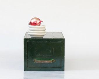 Vintage Green Metal File Drawer - Vintage Storage and Organization - Industrial Decor - Old File Drawer - Boho Decor - Office Decor