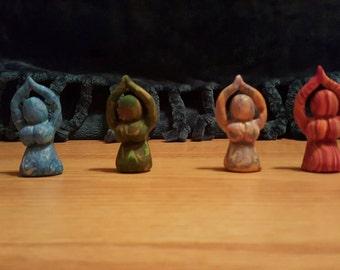 Four elements goddess statues