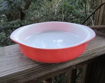 pyrex flamingo pink round baking dish