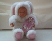 Vintage 1980's, Anne Geddes doll, Vintage bunny doll,  Ideal Gift,  RARE.