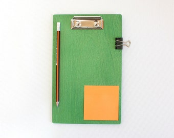Wooden Clipboard / Green Clipboard / 8.5 x 11 inch Clipboard / A5 Clipboard / A4 Clipboard / Business Gift / Courier Gift /Plywood Clipboard