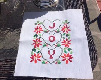 Vintage Joy cross stitch unframed picture
