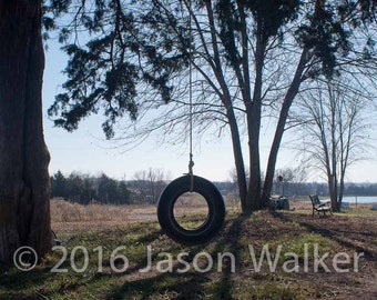 Fine Art Photography Print - Tire Swing