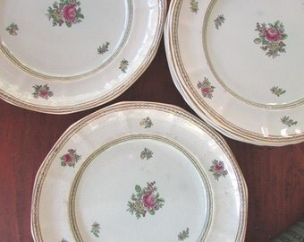 Dinner Plates Vintage Calyx Ware Adams of England 6 Dishes