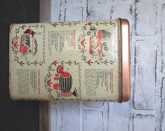 Kitchen Tin Canister Vintage Flour or Sugar Canister Cheinco