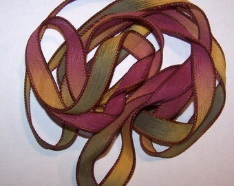 3 Pack Special Sale/Silk Ribbons/Hand Dyed/Wrist Wraps/Sassy Silks/Ready to Ship/ See Description for Details/101-0358