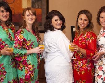 SET of 2,3,4,5,6,7,8,9,10 Bridesmaid Robes Brides Robe Bridesmaids Robe Wedding Robe favours, Bridal  party Robe