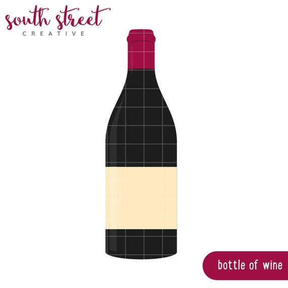 Sale wine bottle wine tasting cute clipart by for Cute wine bottles