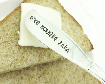 Gift for Papa, Good Morning Papa Butter Spreader, Papa to Be, Papa Announcement, To Papa from Kids