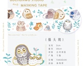 1 Roll of Limited Edition Washi Tape- Cute and Wise Owls