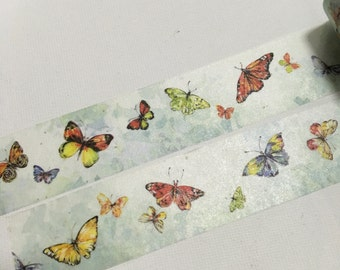 1 Roll of Limited Edition Washi Tape Roll-  Dancing Butterflies