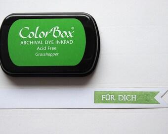 Green - Grasshopper ink stamp pads ink